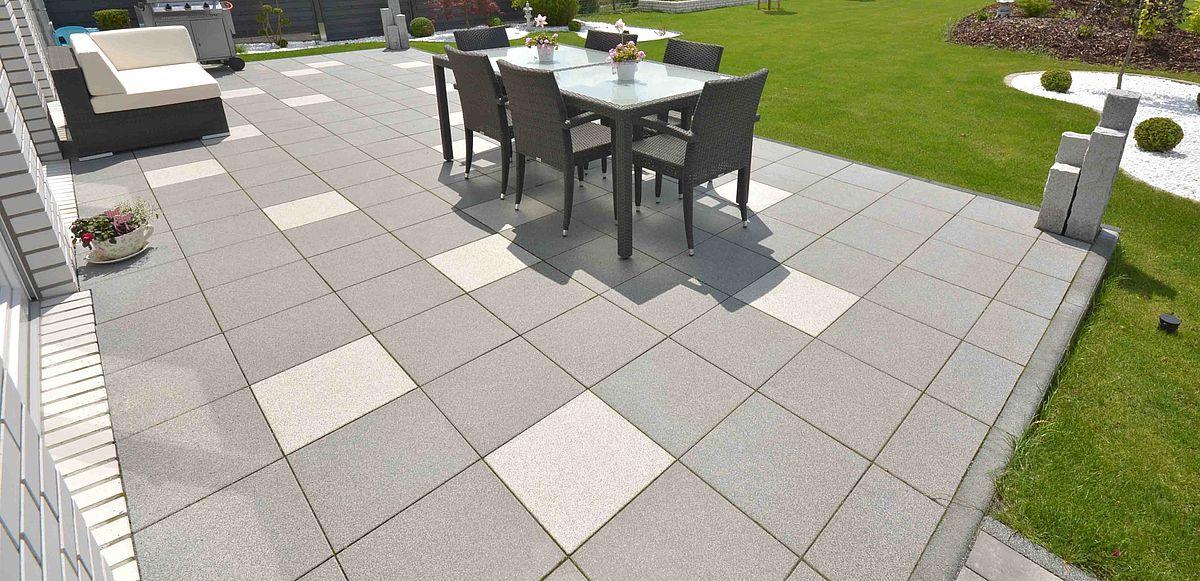 Mosaik Terrassenplatte Beton Salihari Beige 7