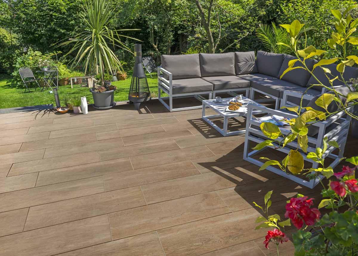Terrassenplatten in Holzoptik   KANN Baustoffwerke